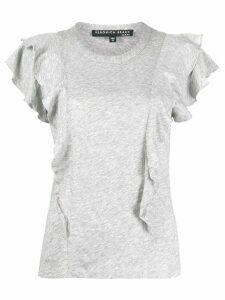 Veronica Beard ruffle sleeve T-shirt - Grey