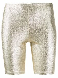 Paco Rabanne metallic cycling shorts - Gold