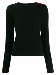 Bellerose shoulder-button slim sweater - Black