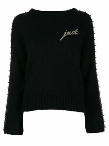 Just Cavalli ringed trim jumper - Black