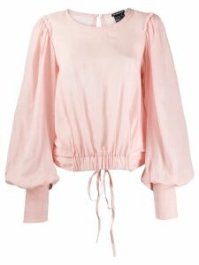 Ann Demeulemeester draped back blouse - PINK
