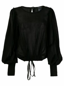 Ann Demeulemeester draped button blouse - Black