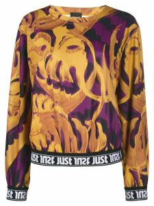 Just Cavalli leaf print jumper - Yellow