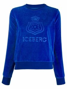 Iceberg logo patch jumper - Blue