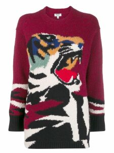 Kenzo oversized tiger sweater - Red