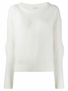 Circus Hotel ribbed sweatshirt - White
