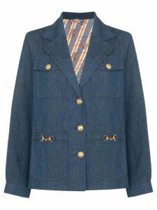 Gucci Horsebit-detail denim jacket - Blue