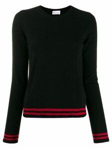 Red Valentino contrast striped trim jumper - Black
