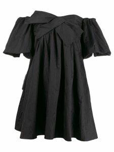 Paule Ka short off-the-shoulder dress - Black
