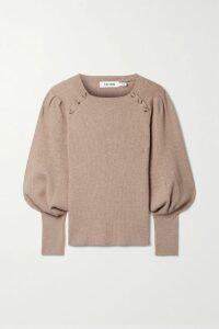 SAINT LAURENT - Amber Leopard-print Suede Sandals - Leopard print