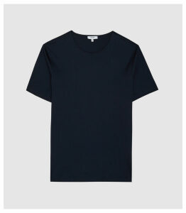 Reiss Balham - Mercerised Crew Neck T-shirt in Navy, Mens, Size XXL
