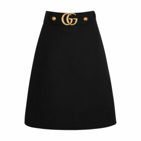 Gucci GG Black Wool-blend Skirt