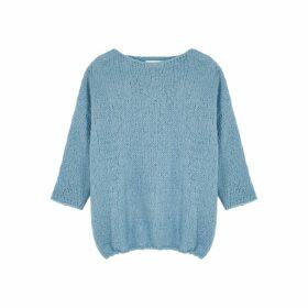 American Vintage Boolder Blue Knitted Jumper