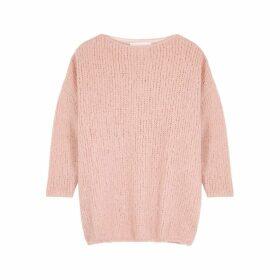 American Vintage Boolder Pink Knitted Jumper