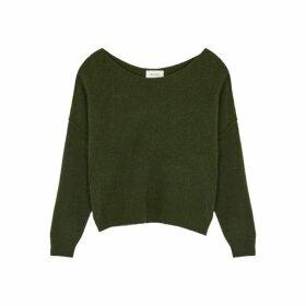 American Vintage Damsville Green Fine-knit Jumper