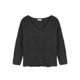 American Vintage Vapcloud Charcoal Knitted Wool-blend Jumper