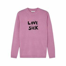 BELLA FREUD Love Sick Pink Wool Jumper
