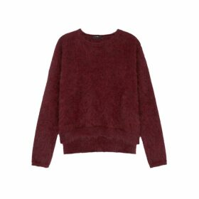 HIGH Bluff Dark Red Angora-blend Jumper