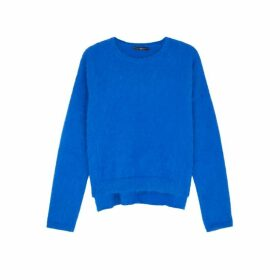 HIGH Bluff Blue Angora-blend Jumper