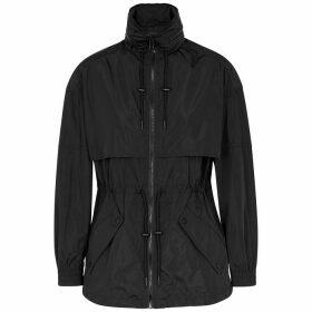 Kenzo Black Logo-print Shell Jacket