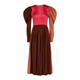 Rejina Pyo Ivy Panelled Wool And Satin Midi Dress