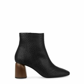 SOULIERS MARTINEZ Pilar Con Forro 75 Black Leather Ankle Boots
