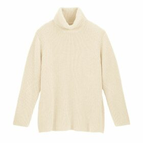 Chunky Knit Ribbed Jumper with Roll Neck