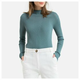 Skinny Ribbed Jumper with High Neck
