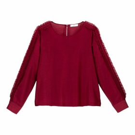 Ruffed Blouse with Long Sleeves
