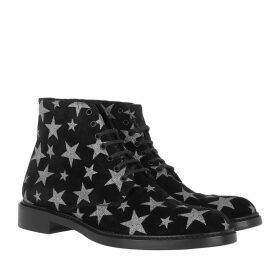 Saint Laurent Boots & Booties - Lolita Lace-Up Ankle Boots Stars Black - black - Boots & Booties for ladies