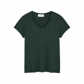 American Vintage Jacksonville Green Slubbed Jersey T-shirt