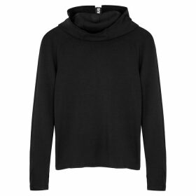 Paco Rabanne Body Black Hooded Jersey Sweatshirt