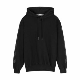 Off-White Black Printed Cotton Sweatshirt