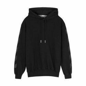Off-White Black Printed Cotton Sweatshirt