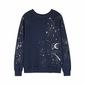 Wildfox Cosmic Dust Sommers Printed Cotton Sweatshirt
