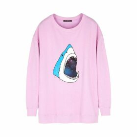 Wildfox Space Shark Roadtrip Printed Jersey Sweatshirt