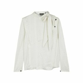 Isabel Marant Saki Ivory Stretch-silk Blouse