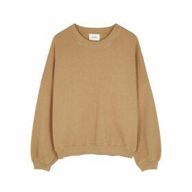 American Vintage Kinouba Camel Cotton Sweatshirt