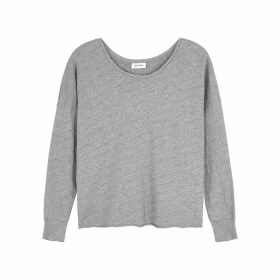 American Vintage Sonoma Grey Mélange Slubbed Cotton Top