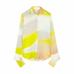 Christopher Esber Printed Silk Satin Shirt
