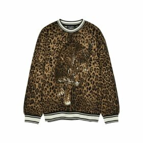 Dolce & Gabbana Leopard-print Jersey Sweatshirt