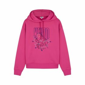 Kenzo Pink Embroidered Cotton-blend Sweatshirt