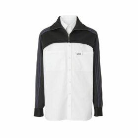 Burberry Track Top Panel Cotton Poplin Shirt