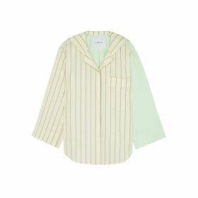 PushBUTTON Ivory Sailor Collar Wool And Cotton Shirt