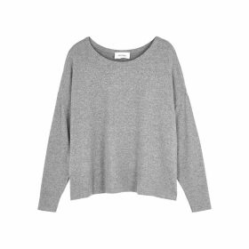 American Vintage Vetington Grey Mélange Brushed Jersey Top