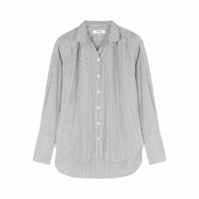 Frame Denim Pinstriped Cotton Shirt