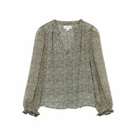 Velvet By Graham & Spencer Mel Leopard-print Blouse