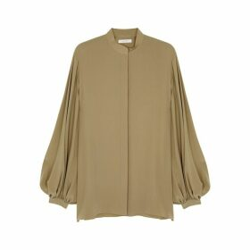 THE ROW Vara Sage Silk Blouse