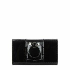 PERRIN PARIS Le Rond Black Leather Clutch