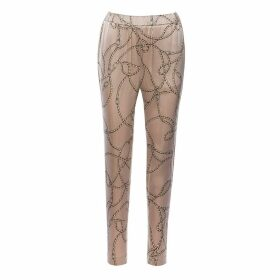 Nissa - Tapered Printed Satin Trousers
